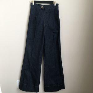 Vintage High Waist Todd Oldham Wide Leg Flare Jean